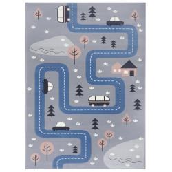 Dětský koberec Adventures 104537 Grey/blue