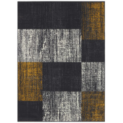 AKCE: 160x220 cm Kusový koberec Mujkoberec Original 104314 Darkgrey/Mustard