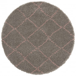 AKCE: 120x120 (průměr) kruh cm Kusový koberec Allure 102751 Grey/Rose