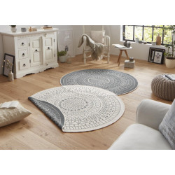 Kusový koberec Twin-Wendeteppiche 103143 creme grau