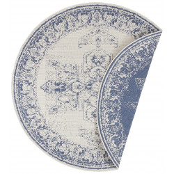 Kusový koberec Twin Supreme 104138 Blue/Cream kruh