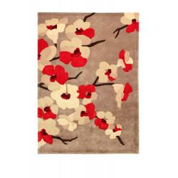 Ručně všívaný kusový koberec Infinite Blossom Red
