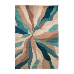 Ručně všívaný kusový koberec Infinite Splinter Teal