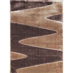 AKCE: 160x220 cm Kusový koberec Seher 3D 2652 Brown Beige