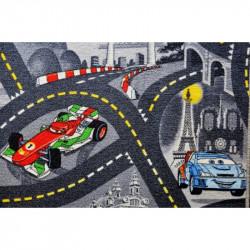 AKCE: 260x530 cm Dětský metrážový koberec The World of Cars 97 šedý