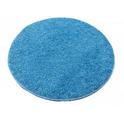 AKCE: 120x120 (průměr) kruh cm Kusový kulatý koberec Color shaggy modrý