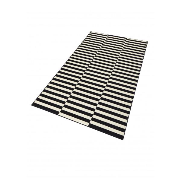 Kusový koberec GLORIA Panel Schwarz Creme