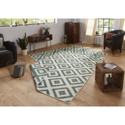AKCE: 120x170 cm Kusový koberec Twin-Wendeteppiche 103131 grün creme