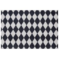 AKCE: 50x70 cm Protiskluzová rohožka Home Black Grey 103167