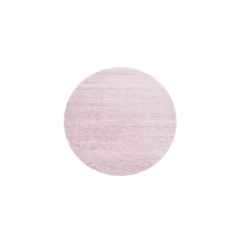 AKCE: 120x120 (průměr) kruh cm Kusový koberec Life Shaggy 1500 pink kruh
