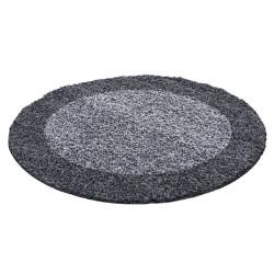 AKCE: 200x200 (průměr) kruh cm Kusový koberec Life Shaggy 1503 grey kruh
