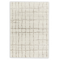 AKCE: 67x130 cm Kusový koberec Savona 193000 Grid Cream