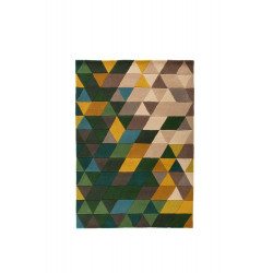 AKCE: 160x160 cm Ručně všívaný kusový koberec Illusion Prism Green/Multi