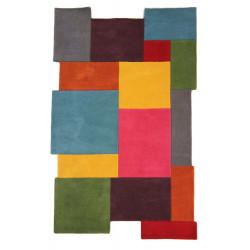 AKCE: 200x290 cm Ručně všívaný kusový koberec Abstract Collage Multi