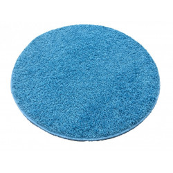 Kusový kulatý koberec Color shaggy modrý