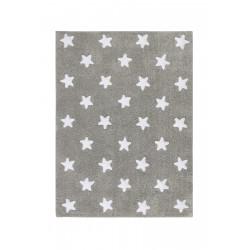 AKCE: 120x160 cm Bio koberec kusový, ručně tkaný Stars Grey-White