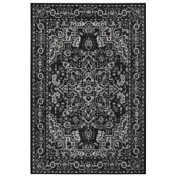AKCE: 80x150 cm Kusový orientální koberec Flatweave 104807 Black/Cream