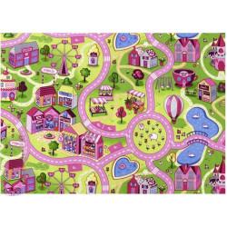 AKCE: 280x430 cm Dětský metrážový koberec silnice Sweet Town