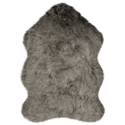 Kusový koberec Freja Faux Fur Copenhagen Charcoal