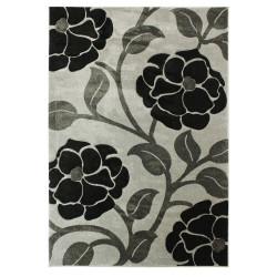 Kusový koberec Hand Carved Vine Grey/Black