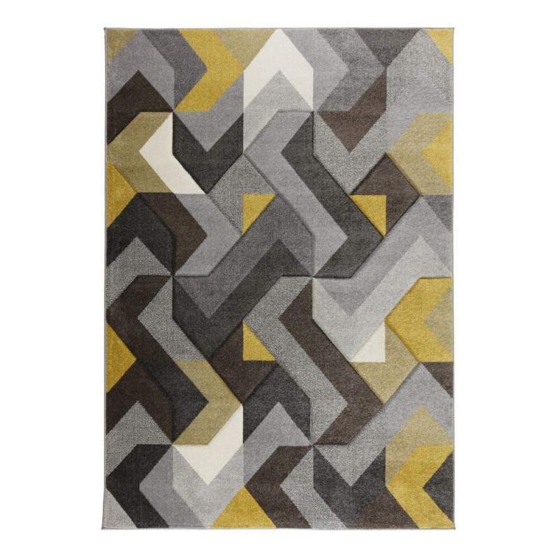 Kusový koberec Hand Carved Aurora Grey/Ochre
