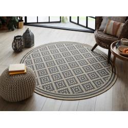 AKCE: 160x160 (průměr) kruh cm Kusový koberec Florence Alfresco Moretti Beige/Anthracite kruh