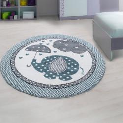 AKCE: 160x160 (průměr) kruh cm Dětský kusový koberec Kids 570 blue kruh