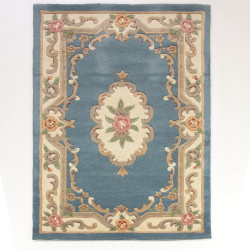 Ručně všívaný kusový koberec Lotus premium Blue