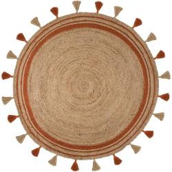 Kusový koberec Lunara Jute Circle Orange