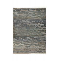 Kusový koberec Santiago Lagos Blue/Natural