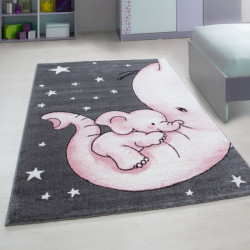 Dětský kusový koberec Kids 560 pink