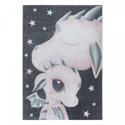 Dětský kusový koberec Funny 2107 pink