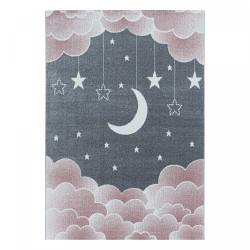 AKCE: 140x200 cm Dětský kusový koberec Funny 2101 pink