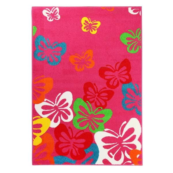 Sintelon koberce Kusový koberec Play 14 RCR, kusových koberců 120x170 cm% Červená, Růžová - Vrácení do 1 roku ZDARMA vč. dopravy