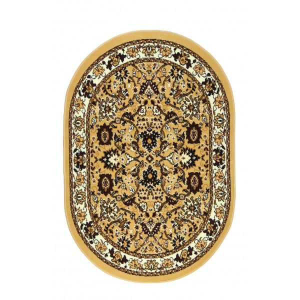 Sofiteks koberce Kusový koberec TEHERAN 117/beige ovál, koberců 100x150 cm Béžová - Vrácení do 1 roku ZDARMA