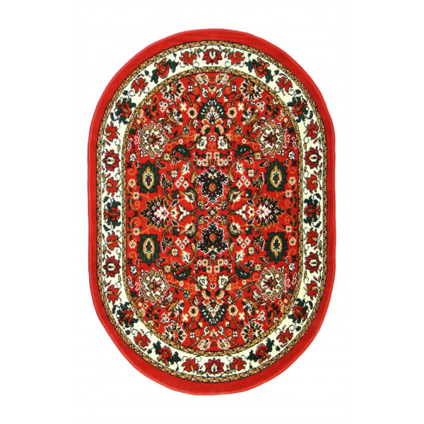 Sofiteks koberce Kusový koberec TEHERAN 117/red ovál, koberců 100x150 cm Červená - Vrácení do 1 roku ZDARMA
