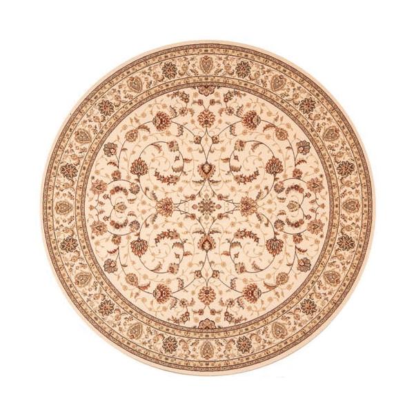 Osta luxusní koberce Kusový koberec Diamond 7244 123 kruh, kusových koberců 240x240 cm% Béžová - Vrácení do 1 roku ZDARMA vč. dopravy