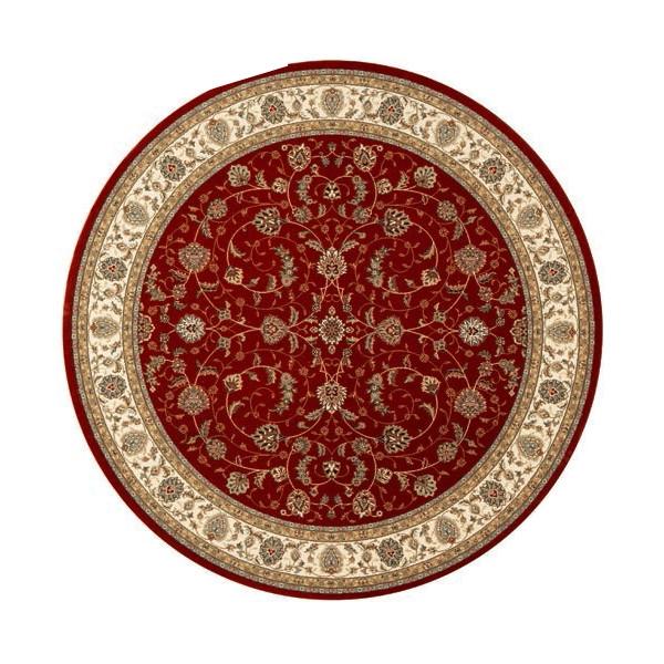 Osta luxusní koberce Kusový koberec Diamond 7244 330 kruh, kusových koberců 240x240 cm% Červená - Vrácení do 1 roku ZDARMA vč. dopravy