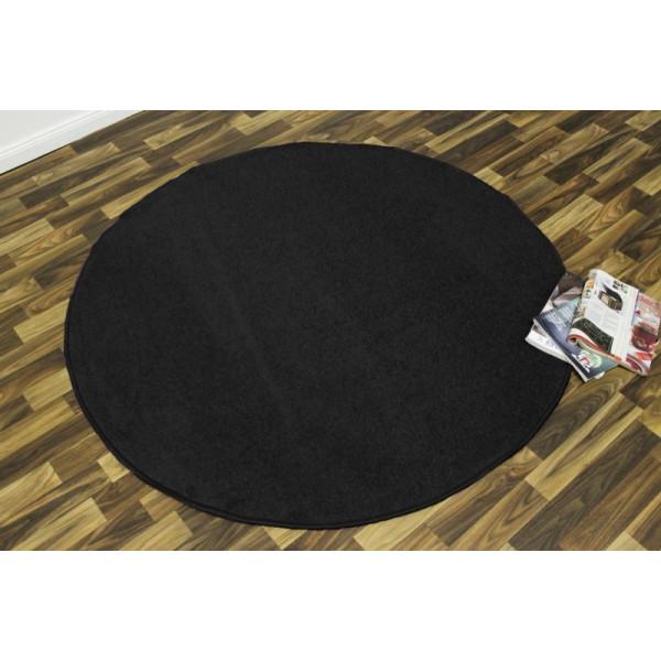 Hanse Home Collection koberce Kusový koberec Nasty 102055 Schwarz kruh, kusových koberců 133x133 - kruh% Černá - Vrácení do 1 roku ZDARMA vč. dopravy
