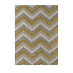 Kusový koberec Chateau 102590 Chevron Gold Grau Creme