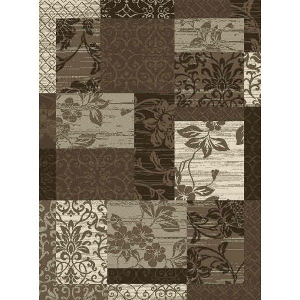 Hanse Home Collection koberce Kusový koberec Prime Pile 102292 Patchwork Optik Bordüre Beige Braun Creme, 120x170 cm% Hnědá - Vrácení do 1 roku ZDARMA vč. dopravy