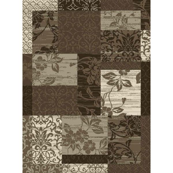 Hanse Home Collection koberce Kusový koberec Prime Pile 102292 Patchwork Optik Bordüre Beige Braun Creme, koberců 80x150 cm Hnědá - Vrácení do 1 roku ZDARMA