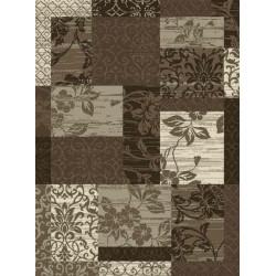 Kusový koberec Prime Pile 102292 Patchwork Optik Bordüre Beige Braun Creme
