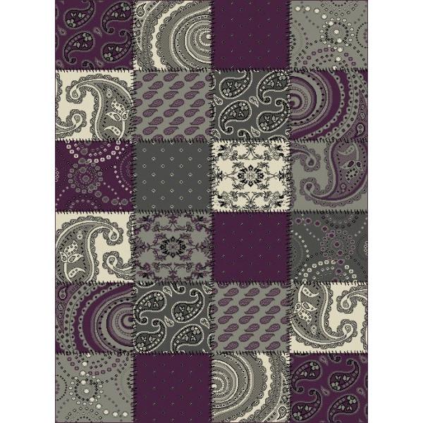 Hanse Home Collection koberce Kusový koberec Prime Pile 101727 Patchwork Optik Lila, kusových koberců 60x110 cm% Šedá - Vrácení do 1 roku ZDARMA vč. dopravy
