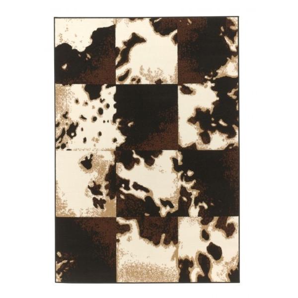 Hanse Home Collection koberce Kusový koberec Prime Pile 101580 Kuh Patchwork Optik, koberců 70x140 cm Béžová - Vrácení do 1 roku ZDARMA