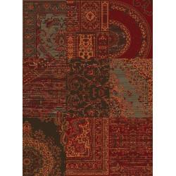 Kusový koberec Prime Pile 101190 Patchwork Optik Rot/Braun