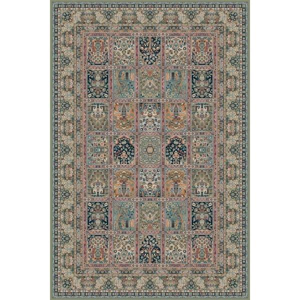 Lano luxusní orientální koberce Kusový koberec NAIN 1276-677, kusových koberců 83x160 cm% Zelená, Modrá - Vrácení do 1 roku ZDARMA vč. dopravy
