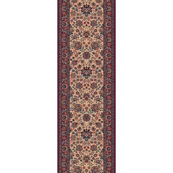 Lano luxusní orientální koberce Běhoun Konia 1164-522, Šířka běhounu šíře 120 cm Červená, Béžová - Vrácení do 1 roku ZDARMA