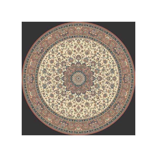Lano luxusní orientální koberce Kusový koberec Kasbah 12217-471 kruh, kusových koberců Ø 170% Červená, Béžová - Vrácení do 1 roku ZDARMA vč. dopravy