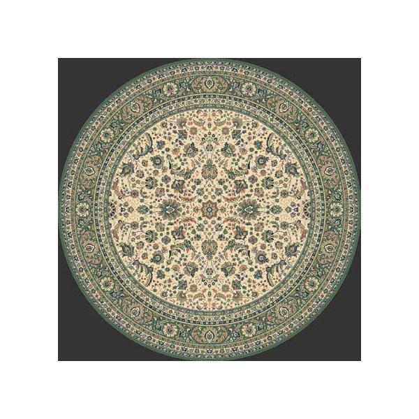 Lano luxusní orientální koberce Kusový koberec Kasbah 13720-416 kruh, kusových koberců Ø 170% Zelená - Vrácení do 1 roku ZDARMA vč. dopravy